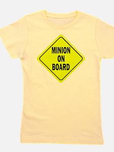 Minion on Board Car Sign Girl's Tee