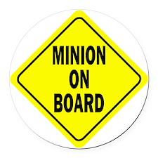 Minion on Board Car Sign Round Car Magnet