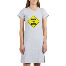 Minion on Board Car Sign Women's Nightshirt