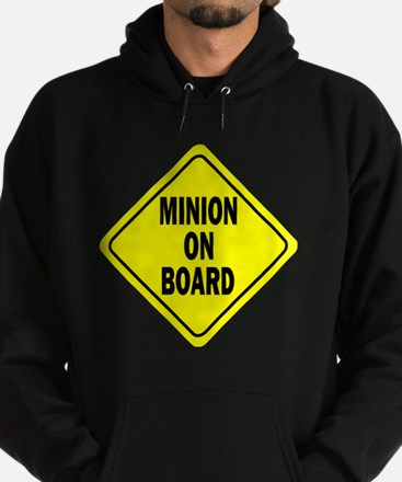 Minion on Board Car Sign Hoodie (dark)