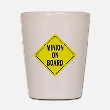 Minion on Board Car Sign Shot Glass
