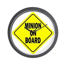 Minion on Board Car Sign Wall Clock