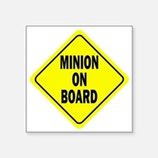 "Minion on Board Car Sign Square Sticker 3"" x 3"""