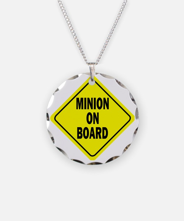 Minion on Board Car Sign Necklace