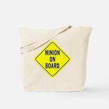 Minion on Board Car Sign Tote Bag