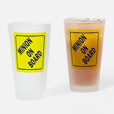 Minion on Board Car Sign Drinking Glass