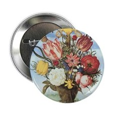 "Bouquet of Flowers 2.25"" Button"
