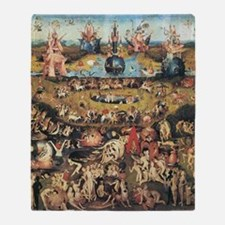 Garden of Earthly Delights Throw Blanket
