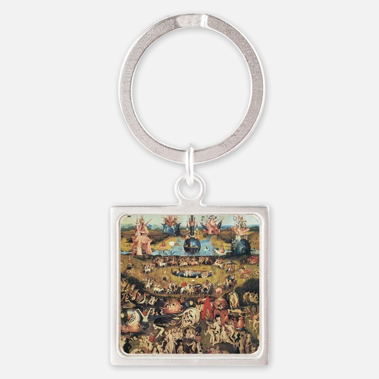 Garden of Earthly Delights Square Keychain