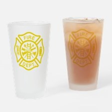 Off Duty Firefighter Drinking Glass
