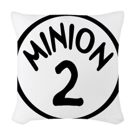 Minion 2 Two Children Woven Throw Pillow