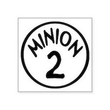 """Minion 2 Two Children Square Sticker 3"""" x 3"""""""
