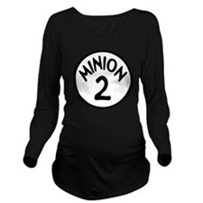 Minion 2 Two Childre Long Sleeve Maternity T-Shirt