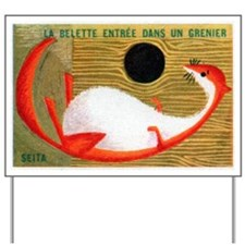 The Weasel in The Granary French Matchbo Yard Sign
