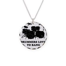 Drummers Love To Bang Necklace Circle Charm