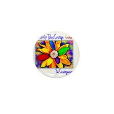 Creativity Flower Mini Button