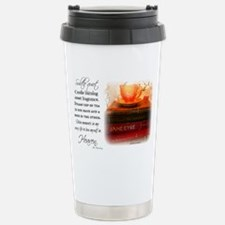 Quiet, Tea, and Books Stainless Steel Travel Mug