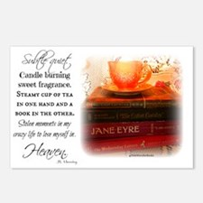 Quiet, Tea, and Books Postcards (Package of 8)