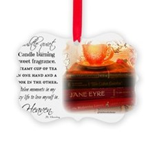 Quiet, Tea, and Books Ornament