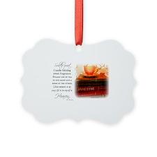 Quiet, Tea, and Books Picture Ornament