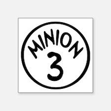 "Minion 3 Three Children Square Sticker 3"" x 3"""