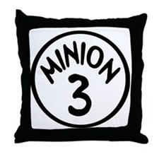 Minion 3 Three Children Throw Pillow