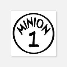 "Minion 1 One Children Square Sticker 3"" x 3"""