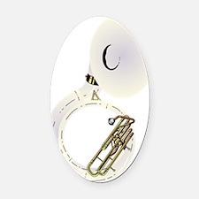 sousaphone-2 Oval Car Magnet