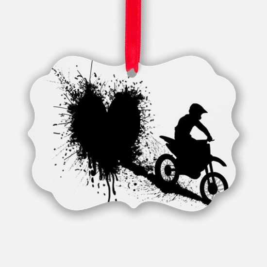 splatter heart Ornament