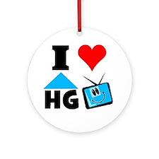 I Love HGTV Round Ornament
