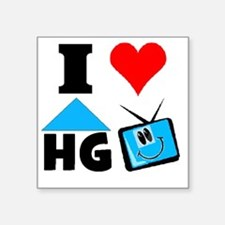 "I Love HGTV Square Sticker 3"" x 3"""