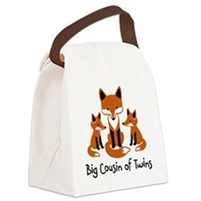 Big Cousin of Twins - Mod Fox Canvas Lunch Bag