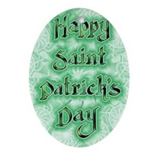 Saint Patricks Day One Oval Ornament