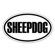 Sheepdog Oval Decal