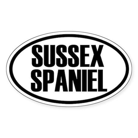 Sussex Spaniel Oval Sticker