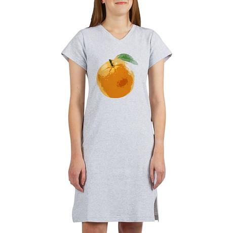 Orange Fruit Navel Valencia Nar Women's Nightshirt