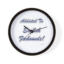 English Fox Addicted Wall Clock