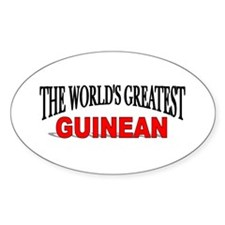 """The World's Greatest Guinean"" Oval Decal"