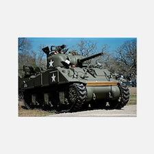 Sherman Tank Rectangle Magnet
