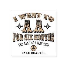 """aa-quarter-LTT Square Sticker 3"""" x 3"""""""
