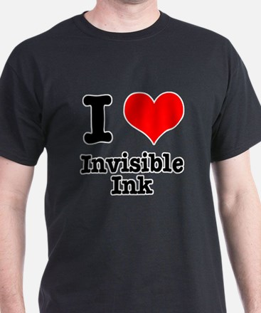 I Heart (Love) Invisible Ink T-Shirt