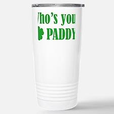 whosPaddy1C Stainless Steel Travel Mug