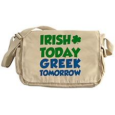 Irish Today Greek Tomorrow Messenger Bag