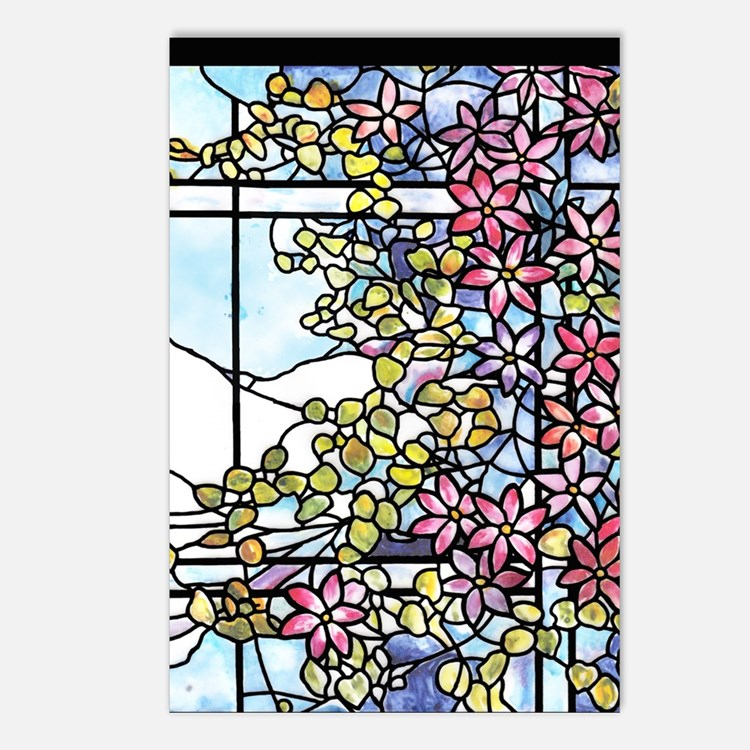 Tiffany Floral Skylight - Postcards (Package of 8)