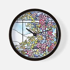 Tiffany Floral Skylight - Fenway Gate Wall Clock