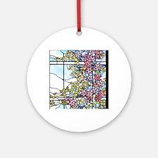 Tiffany Floral Skylight - Fenway Ga Round Ornament