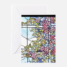 Tiffany Floral Skylight - Fenway Gat Greeting Card