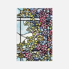 Tiffany Floral Skylight - Fenway Rectangle Magnet