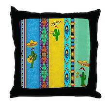 Mexican musicians pillow Throw Pillow