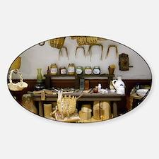 Basket Weaving Room Sticker (Oval)